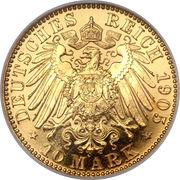 10 Mark - Friedrich August III – reverse