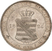 1 Thaler - Friedrich August I (Ausbeute) – reverse