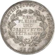 1 Conventionsthaler - Anton (Prize thaler) – reverse