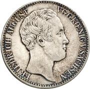 1 Thaler - Friedrich August II (Ausbeute) – obverse