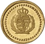 1 Pfennig - Friedrich August I. (Gold pattern strike) – obverse