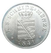 2 Neugroschen / 20 Pfennige - Friedrich August II – obverse
