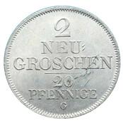 2 Neugroschen / 20 Pfennige - Friedrich August II – reverse