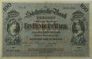 100 Mark (Sächsische Bank) – obverse