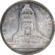 3 Mark - Friedrich August III (Battle of Leipzig) – obverse