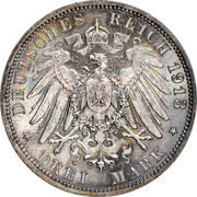3 Mark - Friedrich August III (Battle of Leipzig) -  reverse