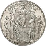 5 Mark - Albert (800 years house of Wettin; Kingdom of Saxony) – reverse