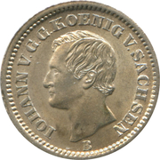 1 Neugroschen / 10 Pfennige - Johann – obverse