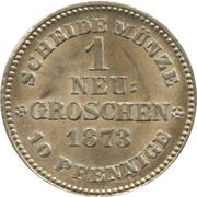 1 Neugroschen / 10 Pfennige - Johann – reverse