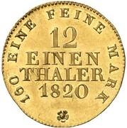 1/12 Thaler - Friedrich August I. (Gold Pattern) – reverse
