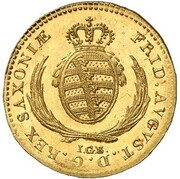 1/24 Thaler - Friedrich August I. (Gold Pattern) – obverse