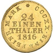 1/24 Thaler - Friedrich August I. (Gold Pattern) – reverse
