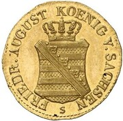 1/24 Thaler - Friedrich August I. (Gold Pattern) – obverse