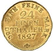 1/24 Thaler - Friedrich August I. (Gold Pattern) – reverse