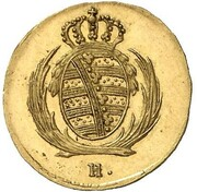 1/48 Thaler - Friedrich August I. (Gold Pattern) – obverse