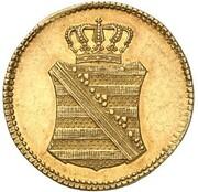 1 Pfennig - Friedrich August I. (Gold Pattern) – obverse
