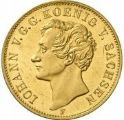 1 Thaler - Johann (Mint visit; Gold Pattern) – obverse