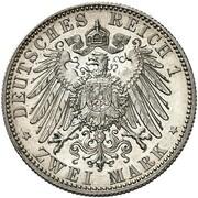 2 Mark - Friedrich August III (Trial strike) – reverse