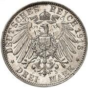 3 Mark - Friedrich August III (Battle of Leipzig) – reverse