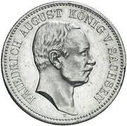 2 Mark - Friedrich August III (Zinc pattern strike) – obverse