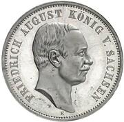 3 Mark - Friedrich August III (Pattern) – reverse
