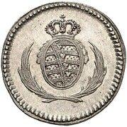1 Pfennig - Friedrich August I (Silver pattern strike) – obverse