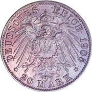 20 Mark - Friedrich August III. – reverse