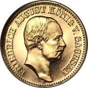 20 Mark - Friedrich August III – obverse