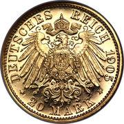 20 Mark - Friedrich August III – reverse