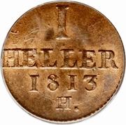 1 Heller - Friedrich August I. – reverse