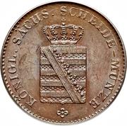 3 Pfennige - Friedrich August II – obverse