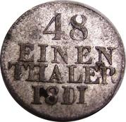 1/48 Thaler - Friedrich August I/III -  reverse