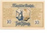 10 Pfennig (Mansfelder Seekreis; Sparkasse) – reverse