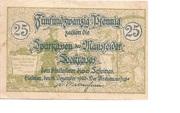 25 Pfennig (Mansfelder Seekreis; Sparkasse) – obverse