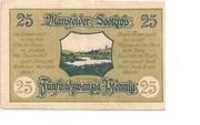 25 Pfennig (Mansfelder Seekreis; Sparkasse) – reverse