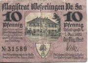 10 Pfennig (Weferlingen) – obverse