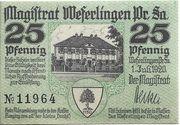 25 Pfennig (Weferlingen) – obverse