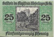 25 Pfennig (Weferlingen) – reverse