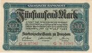 5000 Mark (Sächsische Bank) – obverse