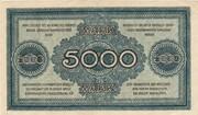 5000 Mark (Sächsische Bank) – reverse