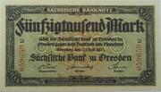 50,000 Mark (Sächsische Bank) – obverse