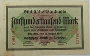 500,000 Mark (Sächsische Bank) – obverse