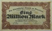 1,000,000 Mark (Sächsische Bank) – obverse