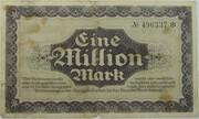 1,000,000 Mark (Sächsische Bank) – reverse
