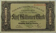 5,000,000 Mark (Sächsische Bank) – obverse