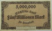 5,000,000 Mark (Sächsische Bank) – reverse