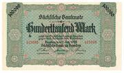 100,000 Mark (Sächsische Bank) – obverse