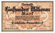 500,000,000 Mark (Sächsische Staatsbank) – obverse