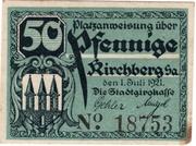 50 Pfennig (Kirchberg in Sachsen) – obverse
