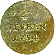 ¼ Stüber - Karl Wilhelm Friedrich – reverse